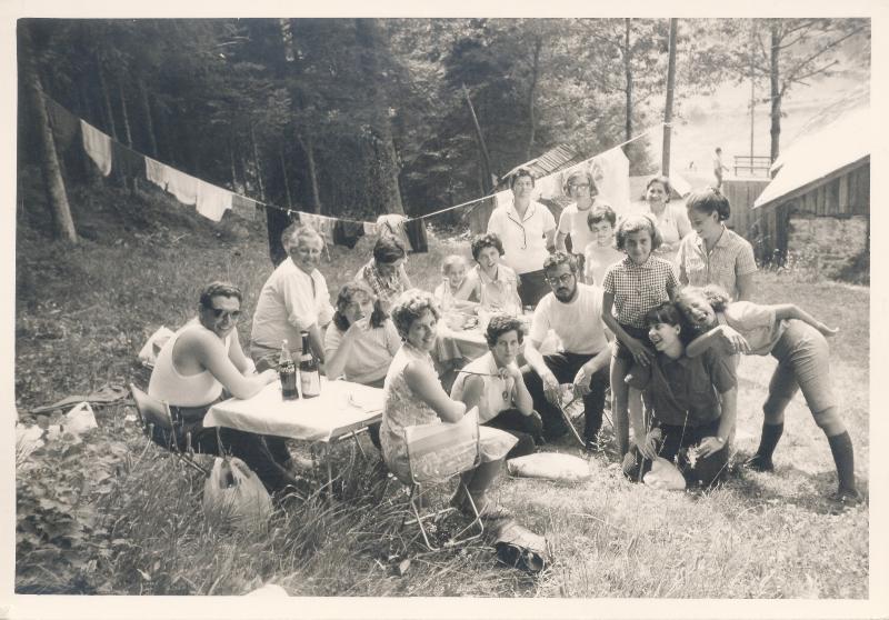 1969 - primo campeggio della Parrocchia - Brusago